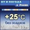 Ну и погода в Ракше - Поминутный прогноз погоды
